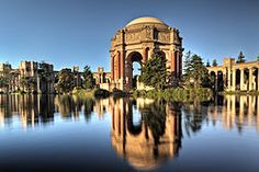 Palace of Fine Arts in San Francisco. Go even if you're not in a wedding.