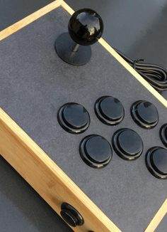 Retrogaming Arcade Stick (at JoystickAtelier) - Ball top - 7 push buttons - 2 hot keys - heavy and stable kg) Joystick Arcade, Retropie Arcade, Arcade Controller, Bartop Arcade, Arcade Room, Mini Arcade, Arcade Games, Console Arcade, Diy Arcade Cabinet