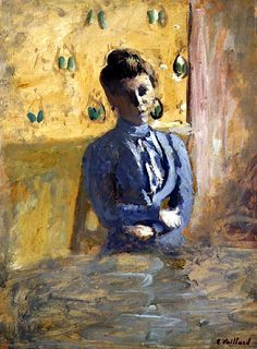 Woman in Blue - Edouard Vuillard