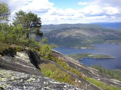 View from Skrede Mountain (Telemark Camping & Inn, Hauggrend Fyresdal, Norway)