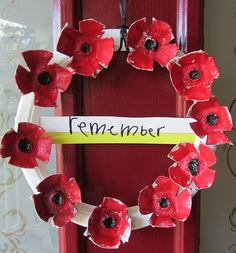 Veterans Day Craft - No Time For Flash Cards- Remembrance Day Craft Remembrance Day Activities, Veterans Day Activities, Remembrance Day Poppy, Craft Activities, Preschool Crafts, Daycare Crafts, Wreath Crafts, Flower Crafts, Fall Crafts