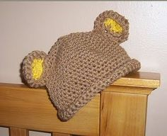 Beary Cute Hat free crochet pattern