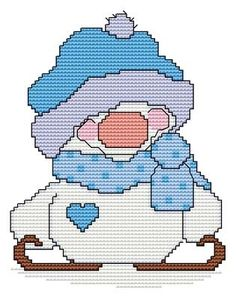 Snowball of the Month - January - DIGI CROSS STITCH