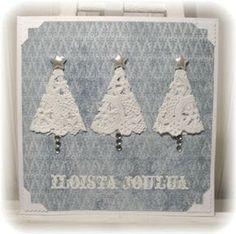 Piian Räpellykset: P*skis - Kakkupaperi . Diy Christmas Garland, Christmas Card Crafts, Homemade Christmas Cards, Christmas Cards To Make, Homemade Cards, Handmade Christmas, Holiday Crafts, Christmas Decorations, Simple Christmas