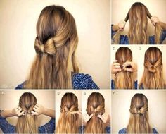 Easy simple hairstyle for events or for just school