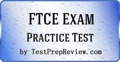 Free FTCE Practice Test Questions by TestPrepReview.  Be prepared for your FTCE test. #ftce