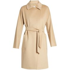 Max Mara Lampo coat (73 580 UAH) ❤ liked on Polyvore featuring outerwear, coats, beige, maxmara, beige coat, camel wool coat, maxmara coat and camel hair coat