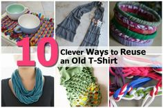 10 Clever Ways to Reuse an Old T-Shirt