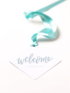 Wedding Welcome Gift and Printable Tag, Lettered by @Meg Gleason