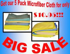 Get our 5 Pack Microfiber Cloth for only $10.95 Cloths, Cleaning, Drop Cloths, Diy Dusters, Textiles, Fabrics, Clothes, Clothing