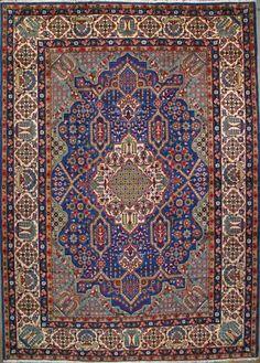 """Esfahan Persian Rug, Buy Handmade Esfahan Persian Rug 9' 8"""" x 13' 10"""", Authentic Persian Rug"""