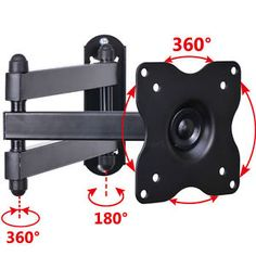 Swivel tilt wall mount compatible with small size LED LCD TV or monitor. Fits TV Monitor Size: to LED LCD TV or monitor. Tilt: If they are one or then the mount will work perfect for your TV or monitor. Best Tv Wall Mount, Tv Wall Mount Bracket, Wall Mounted Tv, Swivel Tv Wall Mount, Swivel Tv Stand, Support Tv, Rack Tv, Flat Panel Tv, Hd Led
