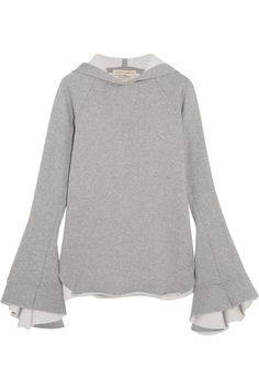 Maggie Marilyn Quietly Confident organic cotton-jersey hooded top $370 Gray organic cotton-jersey Slips on 100% organic cotton Dry clean Imported