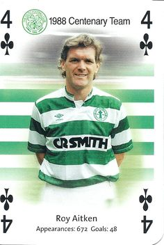 Roy Aitken of Celtic in Steven Page, Liverpool Images, Celtic Fc, Glasgow, Playing Cards, Football, Baseball Cards, Sports, Kingfisher