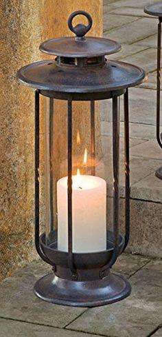 H Potter Decorative Hurricane Candle Lantern Holder (Large)