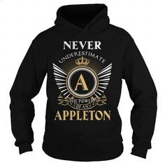 APPLETON - #womens hoodie #champion sweatshirt. SIMILAR ITEMS => https://www.sunfrog.com/LifeStyle/APPLETON-111100819-Black-Hoodie.html?60505