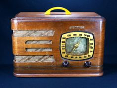 Automatic Antique Wood Cabinet Tube Radio from 1938 Working | eBay