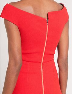 4ba75c2c791 ROLAND MOURET Barwick fit-and-flare wool-crepe dress