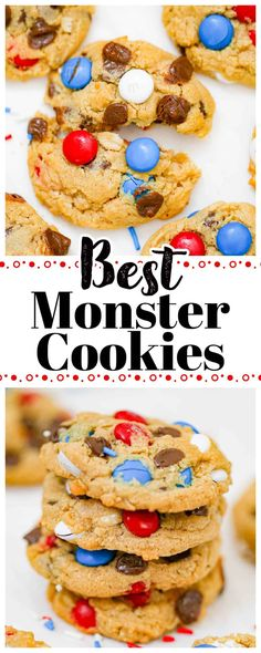 Best Monster Cookies Chocolate Covered Graham Crackers, Mini Chocolate Chips, Chocolate Cookies, Peanut Butter Oatmeal, Peanut Butter Chips, Chocolate Peanut Butter, Cookie Exchange, Graham Cracker Cookies, Ice Cream Cookie Sandwich