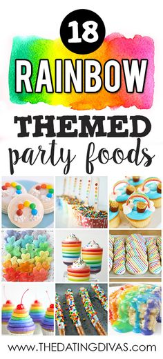 Rainbow themed foods are so pretty! I can't wait to make some of these for St. Patrick's Day! www.TheDatingDivas.com