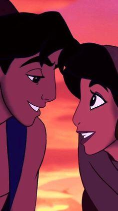 Aladdin e Jasmin Disney Pixar, Aladin Disney, Disney Nerd, Arte Disney, Disney And Dreamworks, Disney Cartoons, Disney Magic, Disney Dream, Disney Love