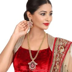 Indian Long Necklace Sets, Indian Long Necklace Designs, Indian Long Necklace Collections.
