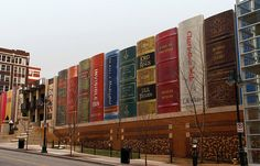 Kansas City Library facade looks like books. The most unusual buildings from around the world - 4