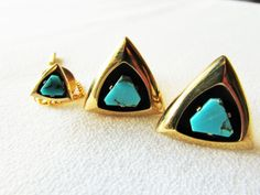 #anson  #turquoise  #gold filled cuff links and tie tac set #fathersday