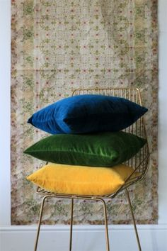 Glorious Velvet Cushions - Brights - View All - Home Accessories Living Room Cushions, Sofa Pillows, Seat Cushions, Couches, Yellow Cushions, Velvet Cushions, Rocket St George, Bright Homes, Home Bedroom