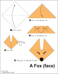 Origami Easy Foxes To Draw - Bunny origami for kids. Here is a list of easy origami that anyone can have fun making. Origami Fox Face Easy Origami For Kids Origami Instructions To. Origami Ball, Instruções Origami, Origami Dragon, Useful Origami, Origami Flowers, Origami Folding, Diy Flowers, Flower Oragami, Origami Duck