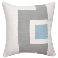 cotton butch pillow blue and grey