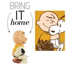 """Bring It Home: Charlie Brown and Snoopy Cookie Jar"" by polyvore-editorial ❤ liked on Polyvore featuring interior, interiors, interior design, home, home decor, interior decorating, Westland Giftware and bringithome"