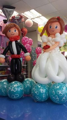Bride & Groom Balloon Sculptures