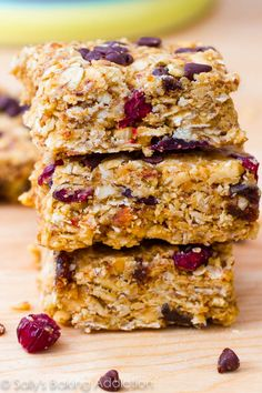 No-Bake Healthy Peanut Butter Trail Mix Bars - everyone will love these!