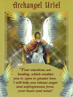 "Archangel Uriel's name means the ""Light of God"", and he is known as the archangel of wisdom and light."