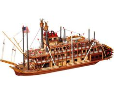 Occre Mississppi 1/80th Scale Model Boat Display Kit 14003 | Hobbies only £185.95