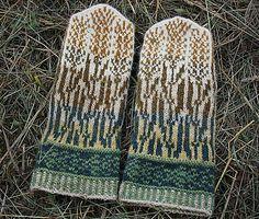 Ravelry: Grasshopper Mittens pattern by Natalia Moreva