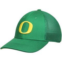 Men s Nike Apple Green Oregon Ducks Performance L91 Mesh Back Swoosh Flex  Hat 09706024e