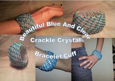 SALE Beautiful Aqua / Blue and Clear Crackle crystal capricho bracelet by BeadBoutiquebyLou, £10.00