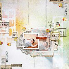 #papercraft #scrapbook #layout    chelseavn - beautiful work