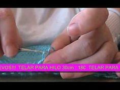 Tutorial fular en telar maya - YouTube