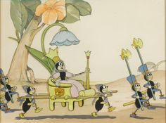 A celluloid of the queen ant from the Silly Symphony Grasshopper and the Ants