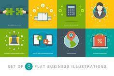 Flat business illustrations set by Vasya Kobelev on @creativemarket