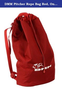 DMM Pitcher Rope Bag Red, One Size. A lightweight, packable rope bag that is both easy to use and super versatile: pack it in a rucksack snag free, carry it as backpack, use it as a rope bucket on sea cliffs, or as an essentials bag on multi pitch routes. The tarp design allows quick and convenient rope stashing (thanks Rab Carrington).