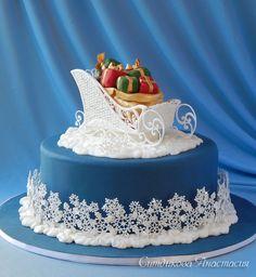 Christmas Cake Designs, Christmas Cake Decorations, Christmas Sweets, Holiday Cakes, Christmas Baking, Xmas Cakes, Christmas Cakes, Winter Torte, Winter Cakes
