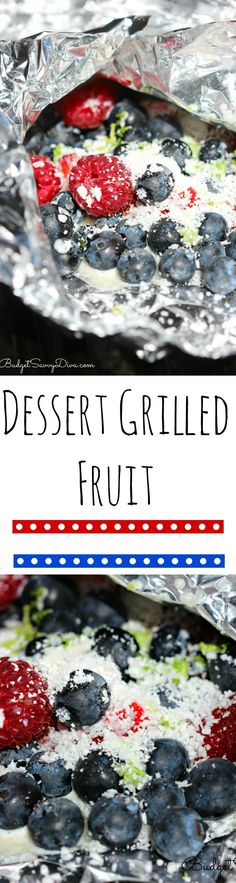 Dessert Grilled Fruit Recipe. Perfect dessert recipe for the 4th of July. This healthly recipe is easy to make and it is also gluten free. Grilling Fruit is the NEW trend.