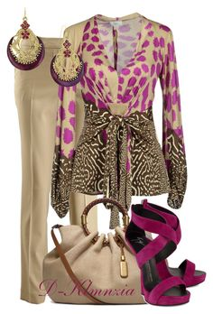 magenta by clemencia-gonza on Polyvore featuring Issa, Michael Kors, Giuseppe Zanotti and 1928