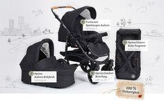Platzsparender & sportlicher Kinderwagen Varius Pro - Naturkind