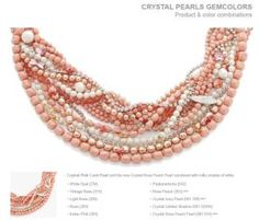 Swarovski Pink Coral Pearl Gem Colors Combinations for DIY jewelry