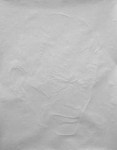 paper scrunch: Paper Creasing Artwork by Simon Schubert #paperart #folding #white #lines #cool #art